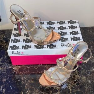 Barbie SALE❤️ FOR TOWN Rose Gold Heeled Shoes